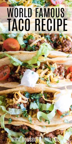 The absolute BEST ground beef Taco Meat! An easy to make homemade taco seasoning. - 5000 - Easy Ground - easy ground beef recipes - The absolute BEST ground beef Taco Meat! An easy to make homemade taco seasoning… – 5000 – Mexican Chicken Recipes, Meat Recipes, Cooking Recipes, Mexican Beef Taco Recipe, Ground Beef Tacos, Ground Meat, Ground Beef Recipes Easy, Carne Asada, Homemade Tacos
