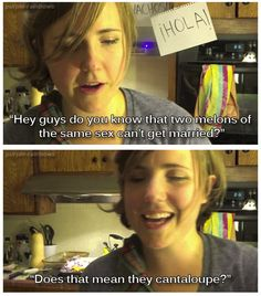 My drunk kitchen.  I love Hannah Hart! She is amazing. I urge all of you to have a MDK marathon right now.