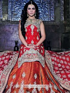 Pakistani bridal lehenga and wedding dresses by lajwanti