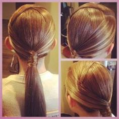Laced ponytail wrap; trendy and chic. Learn more about #hairstyles at #emersonsalon.