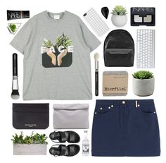 """""""f a c e"""" by sleepy-seas ❤ liked on Polyvore featuring Kenzo, Sophie Hulme, Acne Studios, NARS Cosmetics, Marie Turnor, ASOS, black, skirt, grey and NARS"""