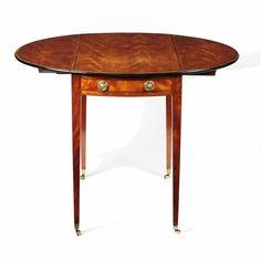 Period of THOMAS SHERATON (c.1751-1806)  Sheraton period satinwood & tulipwood banded Pembroke table (c. 1790)