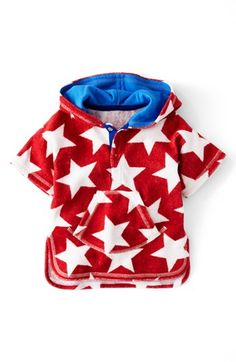 Mini Boden 'Towelling' Poncho (Baby) available at #Nordstrom