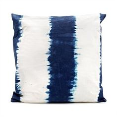 Dip Dye Pillow- Love..even the name is great...'Dip Dye Pillow'.  Would look great on a bench in the porch!