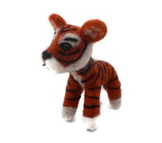 SALE - Needle felted Tiger - Tiger soft sculpture.- Jungle art - small size