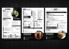 A little busy but still cool! - Brick House Mobile & Menu Design by Myriad Core , via Behance #menu #design #inspiration
