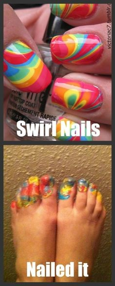 These ARE certainly colorful, at least. | 16 Disappointing Pinterest Beauty Fails