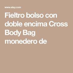 Fieltro bolso con doble encima Cross Body Bag monedero de