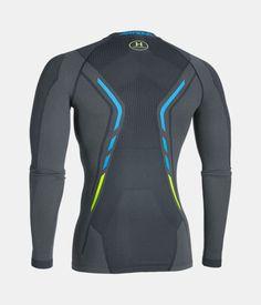 Men's UA HeatGear® Armour Seamless Long Sleeve Shirt, STEALTH GRAY