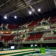 Sneak peek in the the arena in Rio  #Riobound