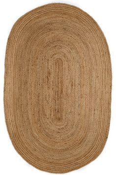 6' x 9' Oval Kerala Natural Jute Rug Oval Rugs, Round Area Rugs, Natural Fiber Rugs, Jute Rug, Weaving Techniques, Rug Size, Vintage Rugs, Diys, Kitchen Dining