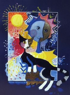 """Cat Theater"" par Rosina Wachtmeister"