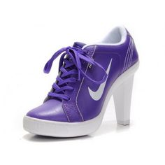 first rate 05133 682e3 Women Nike Dunk SB Low Heels Ankle Boots Purple White Günstige Nike  Laufschuhe, Nike Schuhe