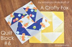 Diary of a Quilter - a quilt blog: Virtual Quilting Bee - Block #6