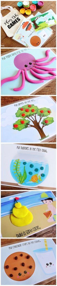 Play dough mat printables // fun kids craft activities