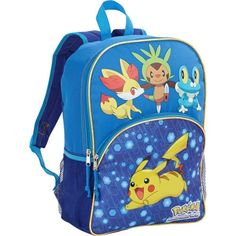 "Nintendo Pokemon 16"" Backpack Pikachu Fennekin Chespin Froakie School Book Bag #Nintendo #SchoolBookbagBackpack"