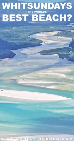 The Whitsundays beach situation is usually summed up with the picture perfect Whitehaven beach. Where to start? Fly over or swim under? Find out here