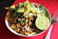 Trying this...minus all the fancy fixings cause I only have ground turkey, black beans, corn, tortillas, Mexican blend cheese and ranch dressing. <~~~Christina  Ground Turkey Taco Salad with Corn & Black Beans