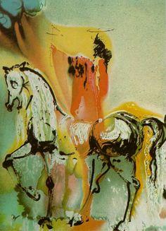 The Christian Knight (Dali's Horses) - Salvador Dali    Artist: Salvador Dali    Completion Date: 1971    Style: Surrealism