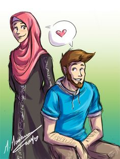 together ...in shaa Allah n___n by madimar.deviantart.com on @deviantART