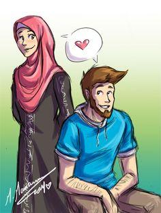 together ...in shaa Allah n___n by madimar.deviantart.com on @deviantART