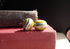 MADE TO ORDER    -    Chartreuse Desert Round By Sabrina Koebel of SabrinaDesign Handmade Lampwork Beads