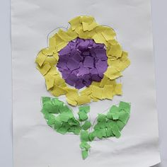 Toddler Paper Mosaic Art
