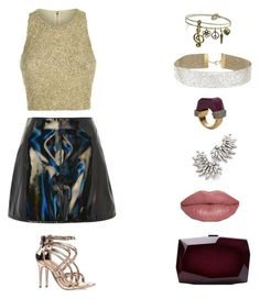 """""""fashion"""" by garnetthesavage ❤ liked on Polyvore featuring Alice + Olivia, Topshop, Anne Michelle, Sweet Romance, Miss Selfridge, Jade Jagger, Yves Saint Laurent and Monique Lhuillier"""