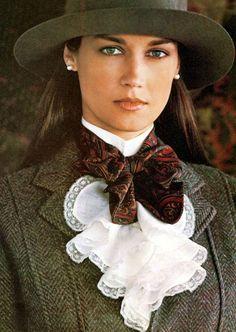 80s Ralph Lauren Paislet Tie Ruffled Blouse Tweed Blazer