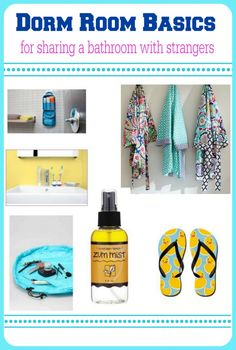 Dorm Room Basics for Sharing a Bathroom with Strangers | PrettyOpinionated.com