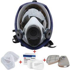 Gas Dusk Mask large Full Face Respirator Painting Spraying Filter