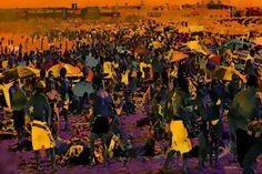 "Saatchi Art Artist ACQUA LUNA; Painting, ""45- Playa y rock."" #art"