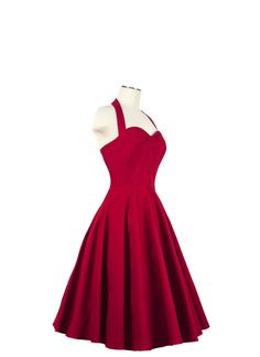 1950s Rockabilly Retro Inspired Pinup Dress in by VintageMeUpbyC. , via Etsy. Custom colors available.