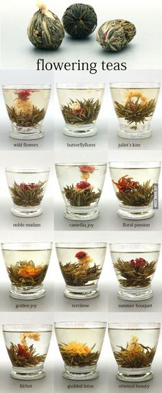 Flowering Teas: In winter it's nice to watch something bloom! Keep an eye out for Pure Tea, Perth. I love hot tea! Cuppa Tea, Flower Tea, My Cup Of Tea, Tea Recipes, Chai, High Tea, Drinking Tea, Superfood, Afternoon Tea