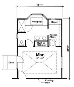 Master Bedroom Addition on 1 story floor design