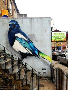 Street art graffiti - streetart animal murals by irony boe in the streets of london 10 pictures 3d Street Art, Murals Street Art, Amazing Street Art, Art Mural, Street Art Graffiti, Amazing Art, Street Artists, Urban Graffiti, Wall Street