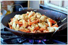 Stir Fried AlaskaKing Crab w/Thai Basil& Sweet Chili Sauce - Great Deals at www.AlaskaKingCrabs.com