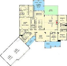 Handsome Craftsman House Plan - 36069DK   1st Floor Master Suite, Bonus Room, Butler Walk-in Pantry, CAD Available, Craftsman, Den-Office-Library-Study, Mountain, PDF, Split Bedrooms   Architectural Designs