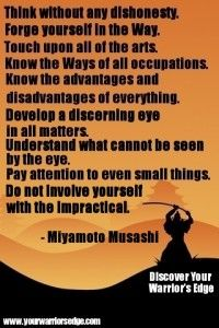 Martial Arts Quotes of Wisdom | Think without any dishonesty.