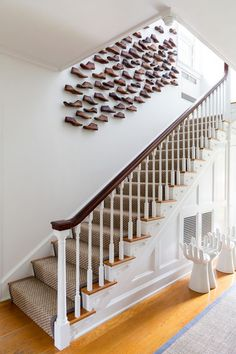 Designer Susana Simonpietri Added Visual Interest To This Stairway By  Turning A Traditional Gallery Wall Into Something Unique By Replacing  Pictures With ... Amazing Ideas
