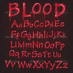 """Buy the royalty-free Stock vector """"Abstract red blood alphabet vector letters isolated"""" online ✓ All rights included ✓ High resolution vector file for p. Tatoo Lettering, Hand Lettering Fonts, Typography Fonts, Lettering Design, Tattoo Alphabet, Alphabet Fonts, Alphabet Art, Blood Font, Shades Of Meaning"""