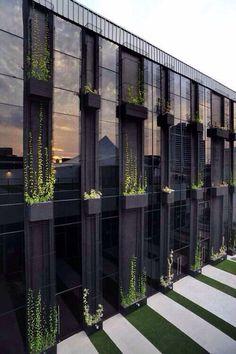green wall exterior