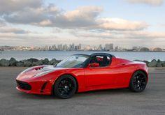 tesla | Gespot: Mini Cooper JCW en Tesla Roadster Signature 250