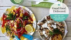 Grilled chicken with corn and herb summer salad