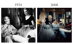 The rear Window by Alfred Hitchcock, 1954 and Scarlett Johansson as grace Kelly & Javier Bardem as Jimmy Stewart by Norman Jean Roy, Vanity Fair March 2008.