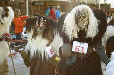 Tschaggatta during Carnival parade in Lotschental Valley, Switzerland