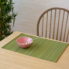 Groene bamboe placemat