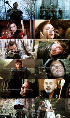 First and last words of the Robin Hood BBC characters. They forgot Carter.