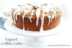 Greek Yogurt Coffee Cake (Two Peas and Their Pod) #cake