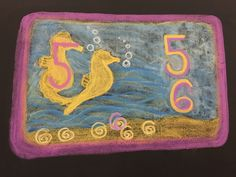 Numbers Five and Six drawn by Kim Stuart, Roseway Waldorf School, KZN, South Africa